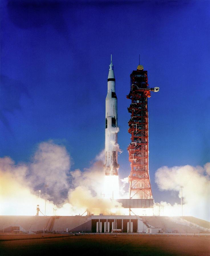 Apollo 8 Photograph - Apollo 8 Launch by Nasa/science Photo Library
