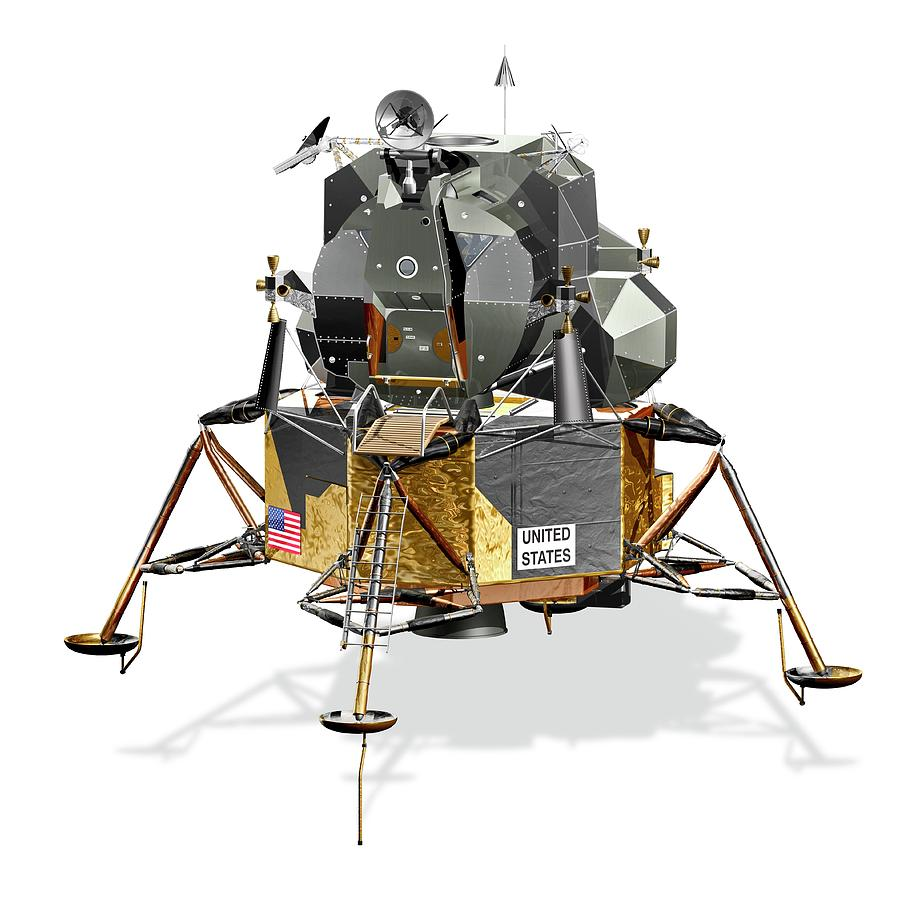 1900s Photograph - Apollo Lunar Module by Carlos Clarivan/science Photo Library