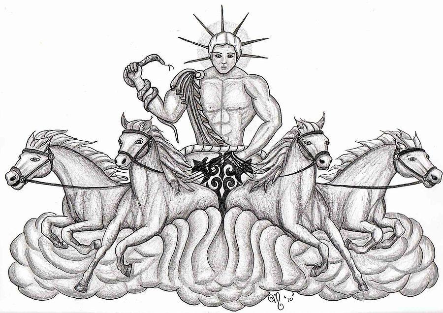 Apollo The Greek God Drawing By Amanda Machin