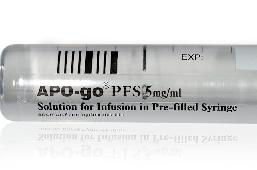 Syringe Photograph - Apomorphine For Parkinsons Disease by Dr P. Marazzi/science Photo Library