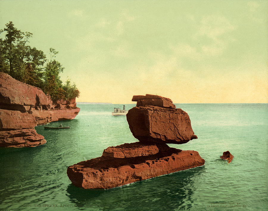 1898 Painting - Apostle Islands Sphinx by Granger