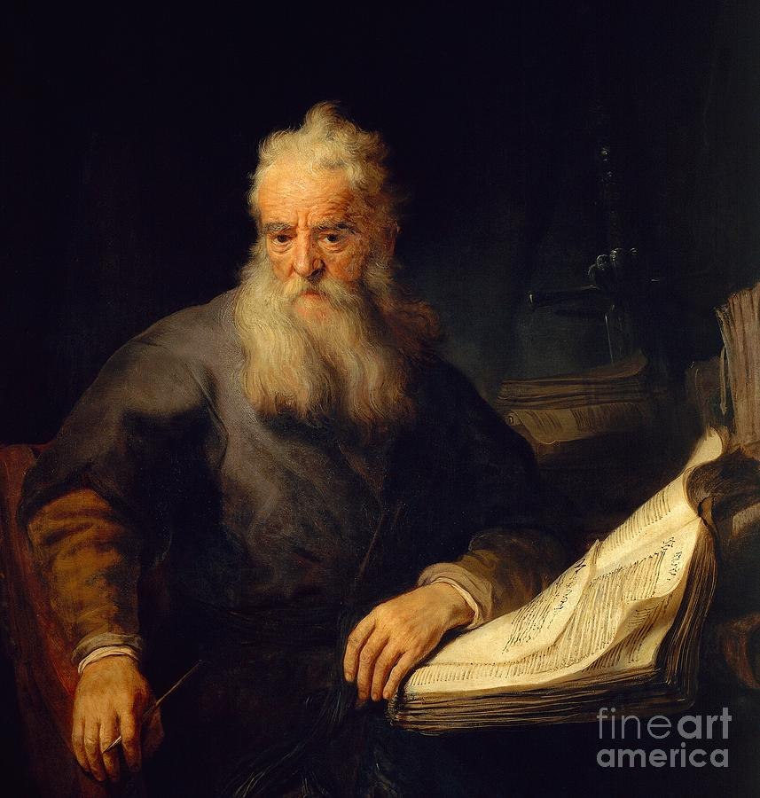 Painting Painting - Apostle Paul by Rembrandt
