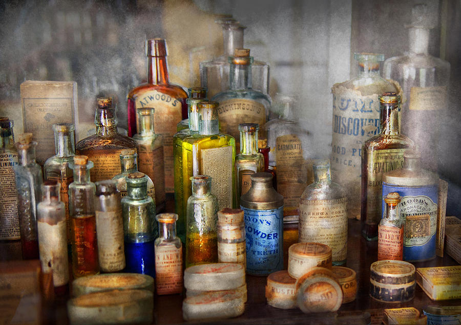 Pharmacy Photograph - Apothecary - For All Your Aches And Pains  by Mike Savad