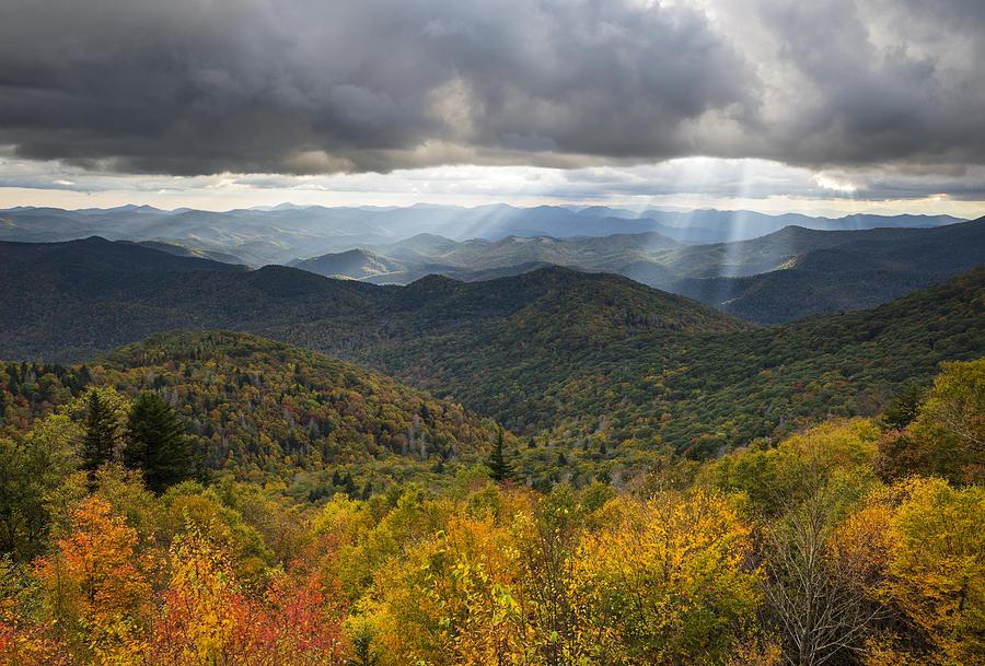 Appalachian Photograph - Appalachian Autumn North Carolina Fall Foliage by Dave Allen
