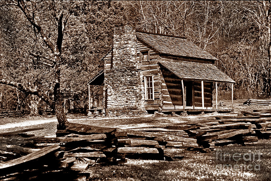 Log Cabin Photograph - Appalachian Cabin - Toned by Paul W Faust -  Impressions of Light