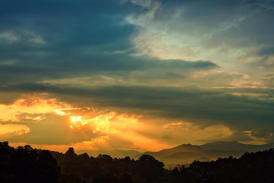 Appalachian Photograph - Appalachian Sunset by William Schmid