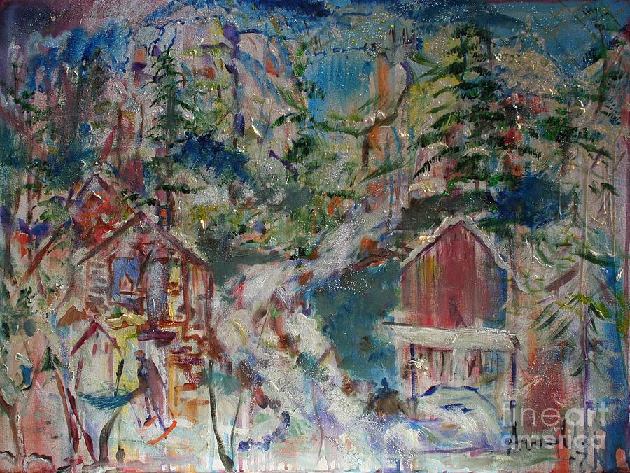 Appalachian Painting - Appalachian Township by Avonelle Kelsey