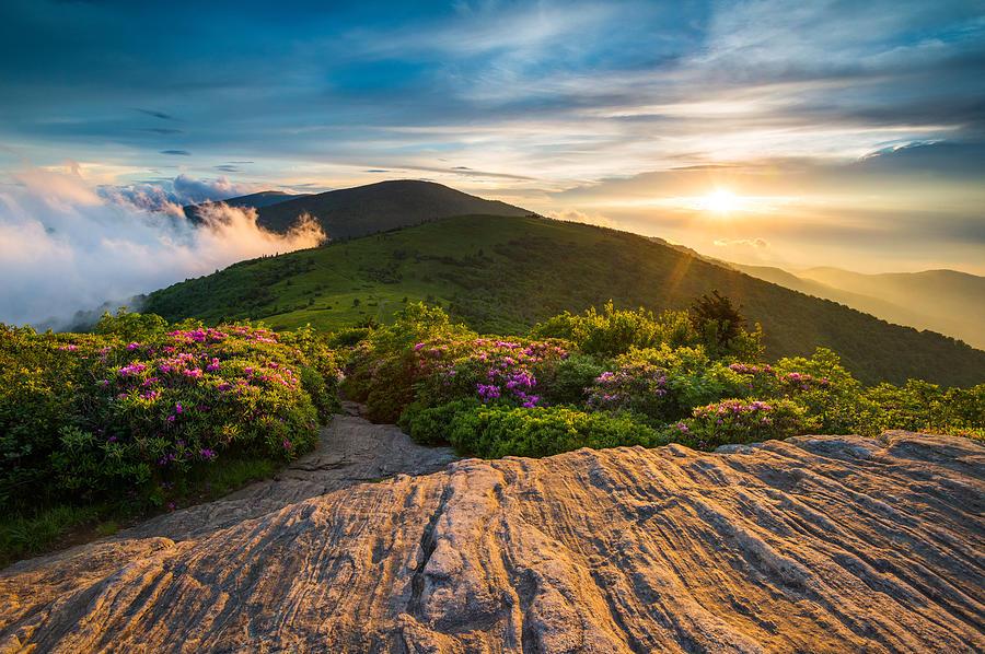 Appalachian Trail Sunset North Carolina Landscape Photography Photograph By Dave Allen