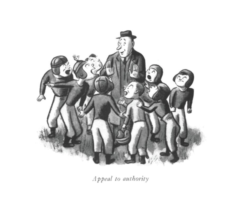 Appeal To Authority Drawing by William Steig