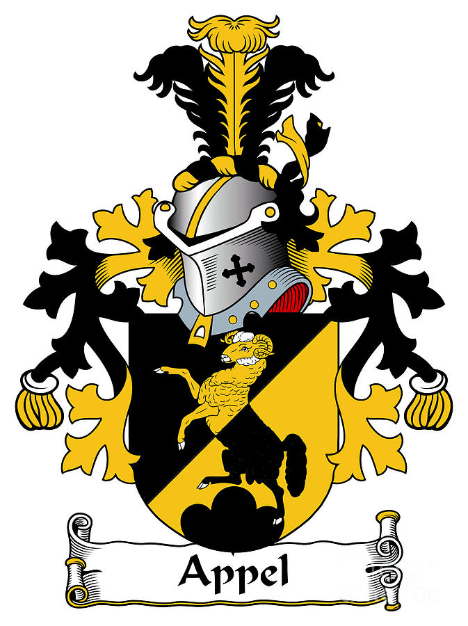 Appel Coat Of Arms Dutch Digital Art By Heraldry