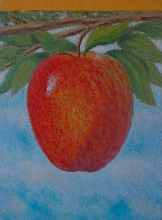 Set Painting - Apple 1 In A Series Of 3 by Don Young