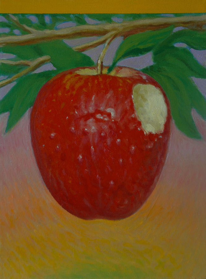 Set Painting - Apple 3 In A Series Of 3 by Don Young