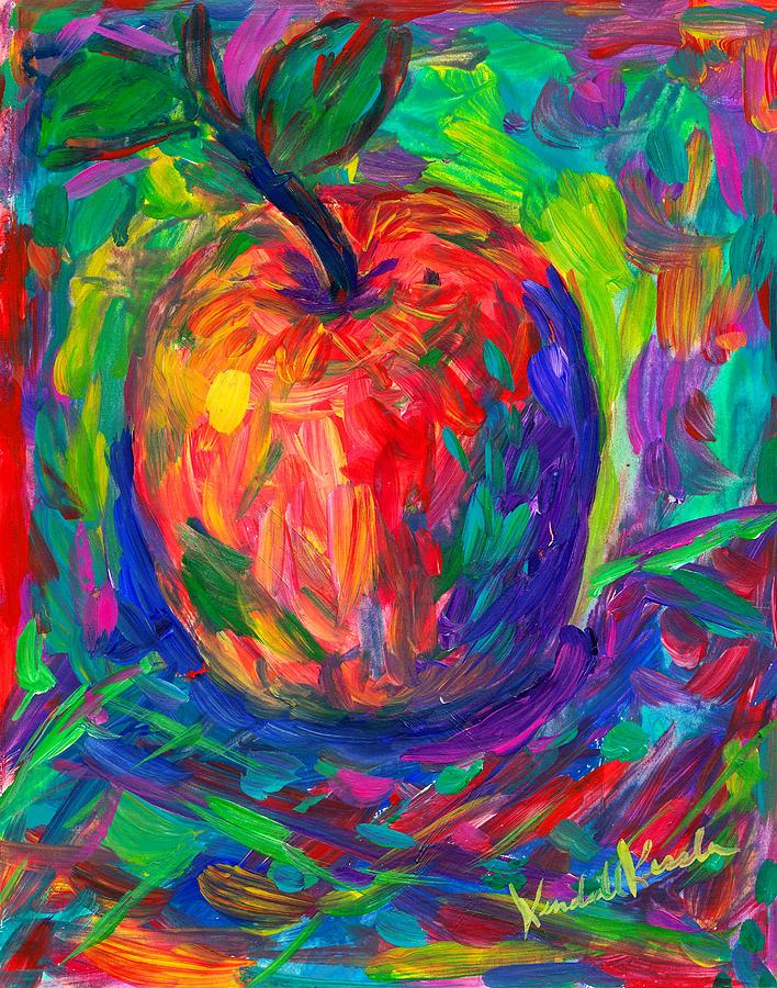 Apple Painting - Apple a Day by Kendall Kessler