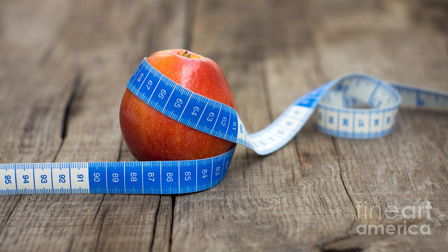 Apple Photograph - Apple And Measuring Tape by Aged Pixel