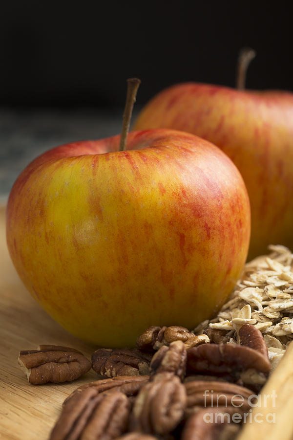 Apple And Pecans Photograph