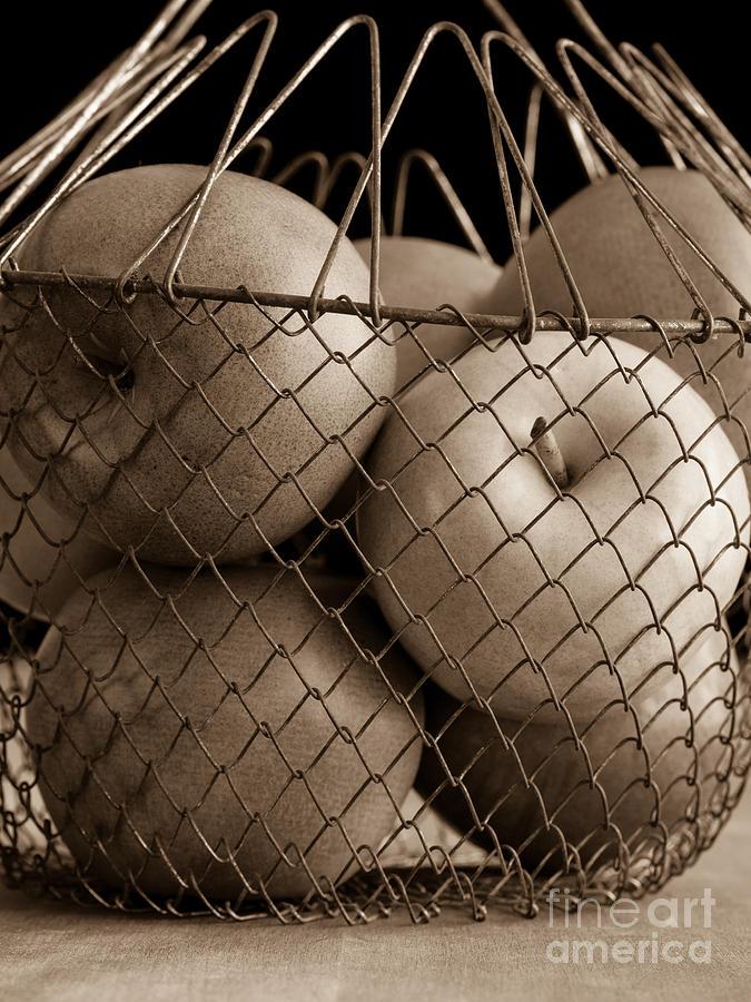 Apple Photograph - Apple Basket Still Life by Edward Fielding