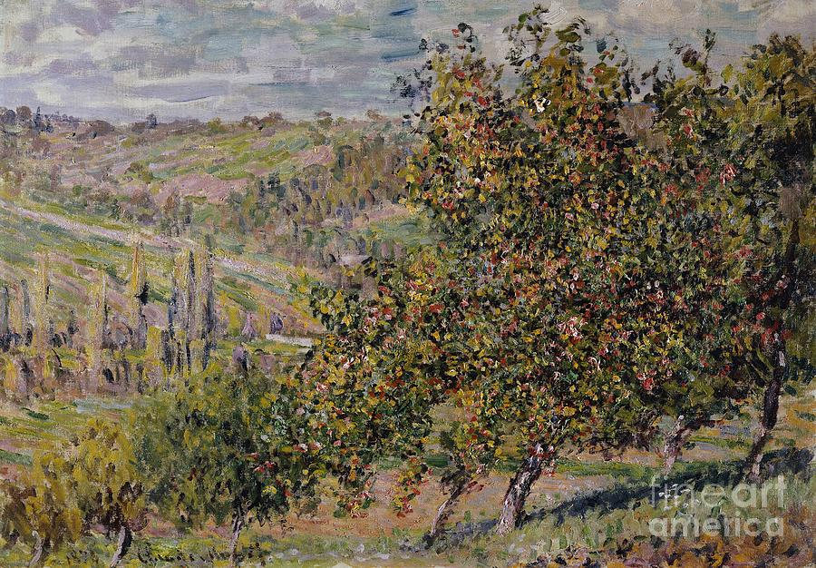 French Painting - Apple Blossom by Claude Monet