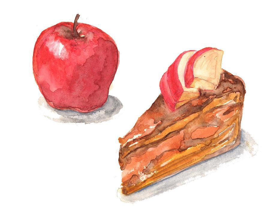 Apple Cake Digital Art by Kana hata