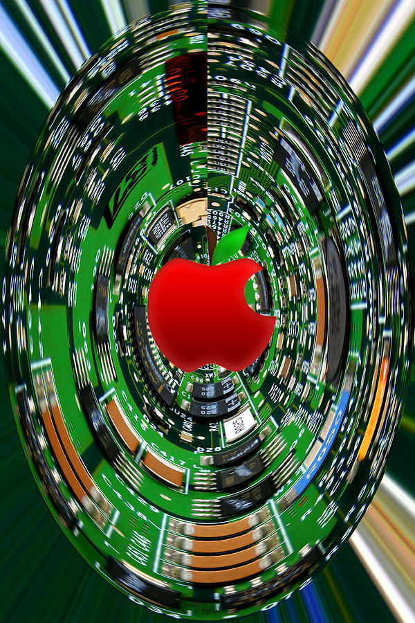 Apple Photograph - Apple Computer Abstract by Sandi OReilly