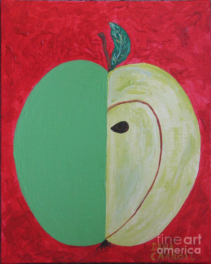 Colorado Painting - Apple In Two Greens 02 by Dana Carroll