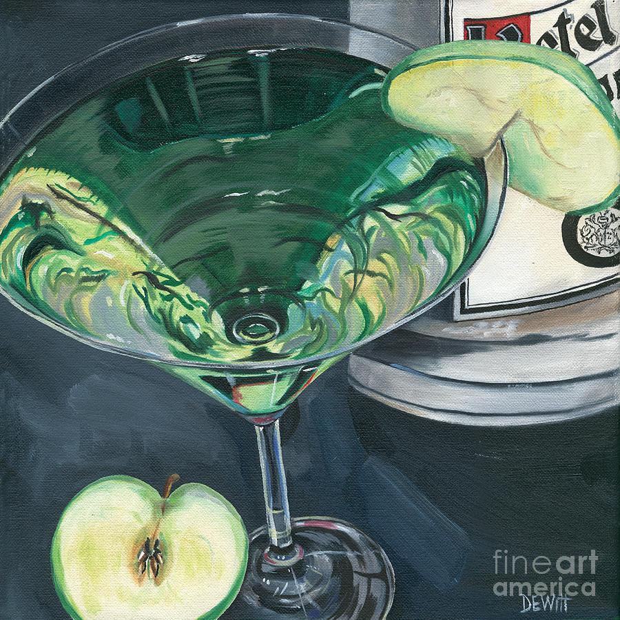 Apple Painting - Apple Martini by Debbie DeWitt