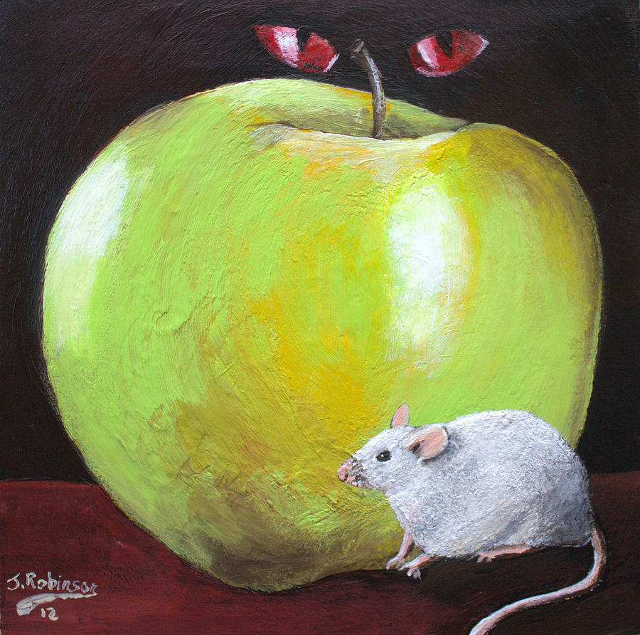 Landscape Painting - Apple Of My Eyes by Julia Robinson