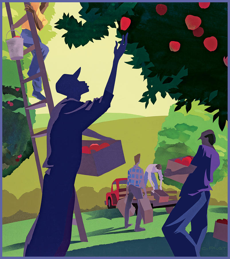 Apple Pickers by Clifford Faust