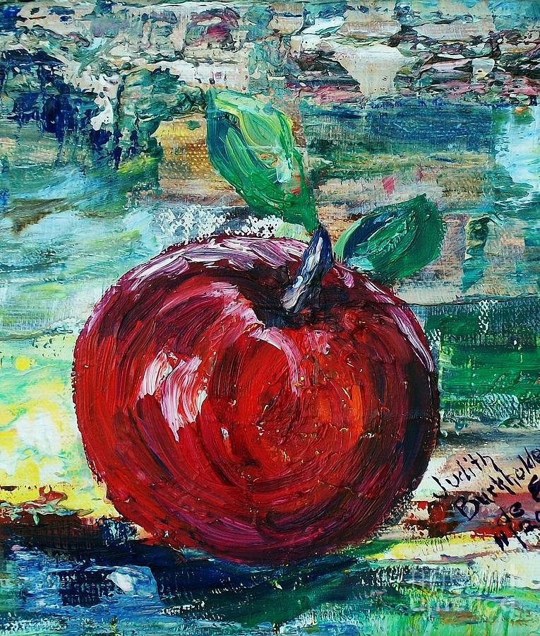 Apple Painting - Apple - Sold by Judith Espinoza