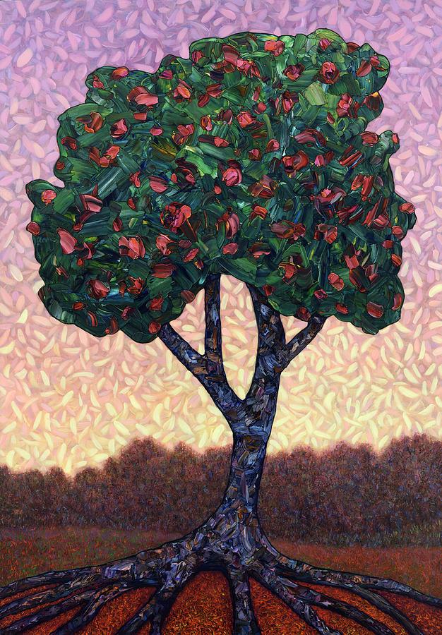 Apple Tree Painting - Apple Tree by James W Johnson