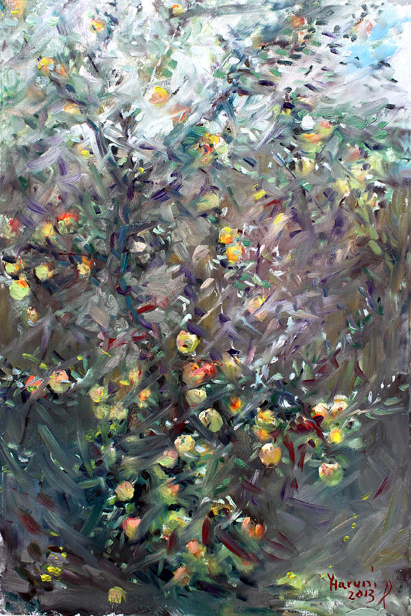 Apples Painting - Apple Tree  by Ylli Haruni