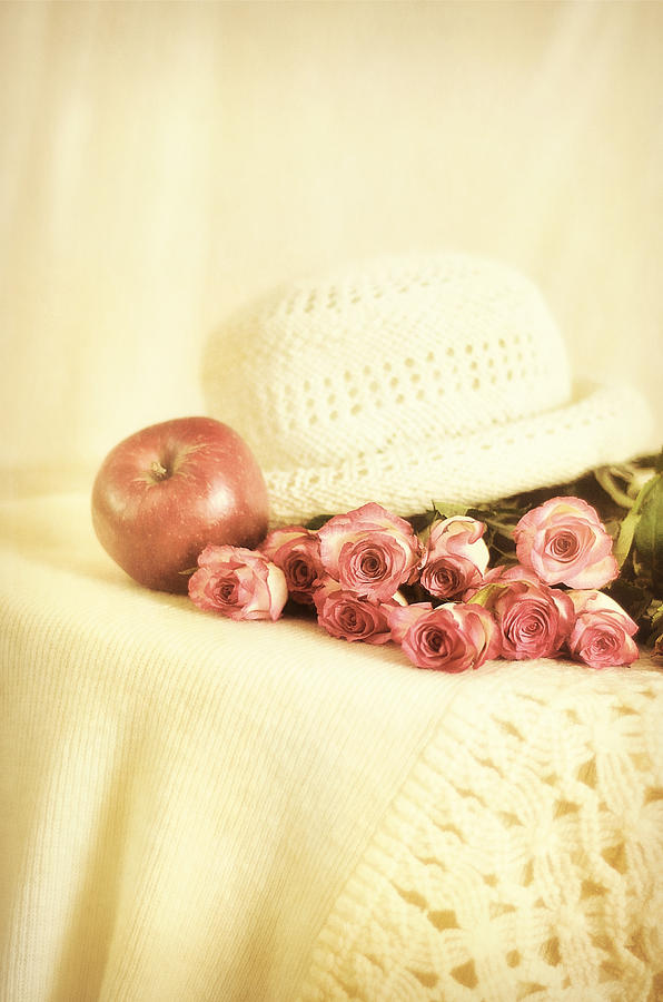 Apple Photograph - Apple With Roses by Gynt Art
