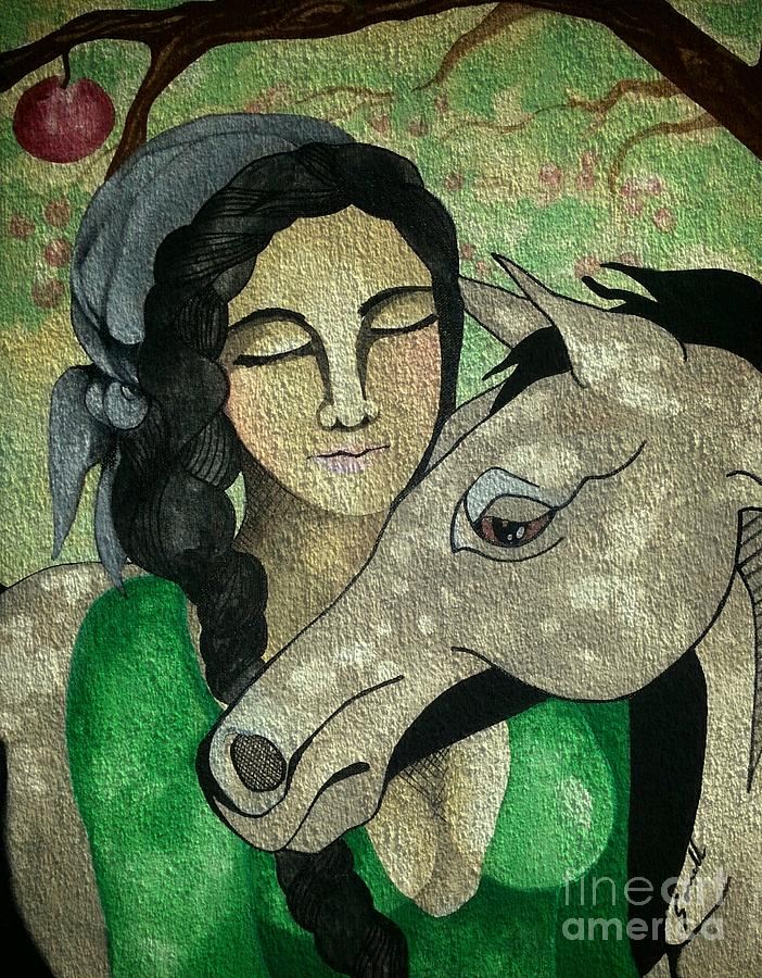 Horse Painting - Apples And Horses by Amy Sorrell