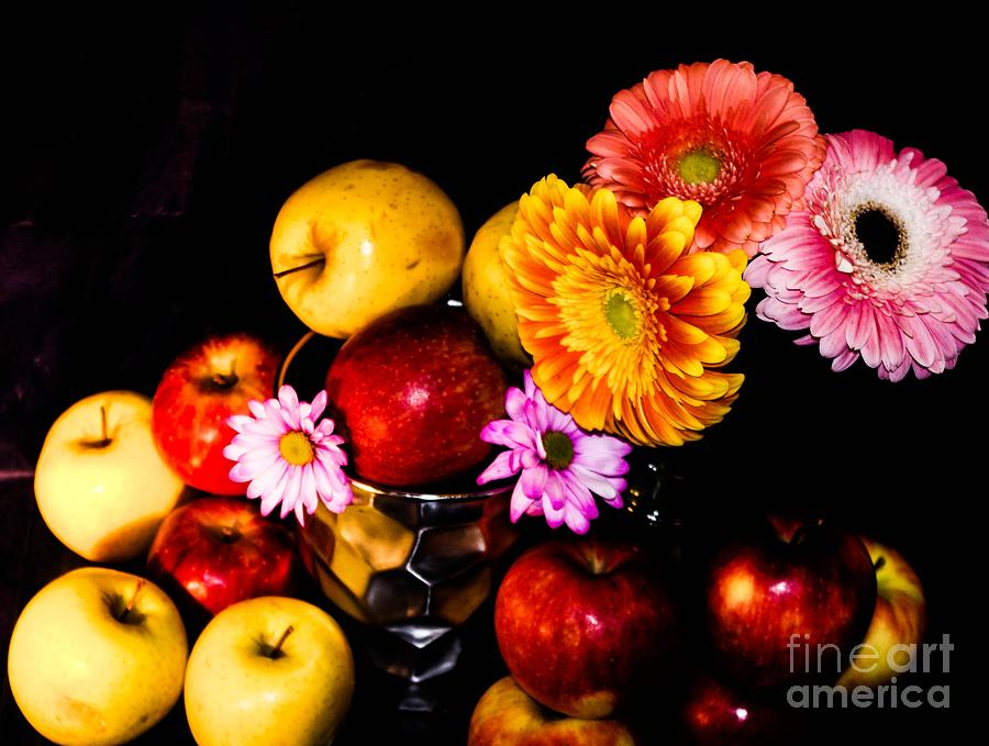 Apples And Suflowers Photograph by Gerald Kloss