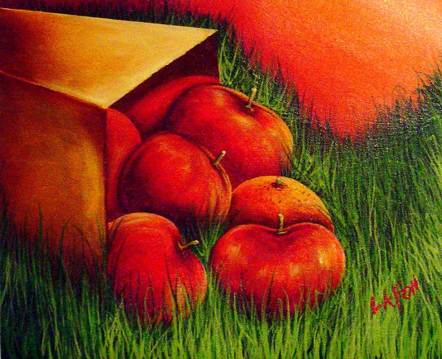 apples at sunset by Owen Lafon