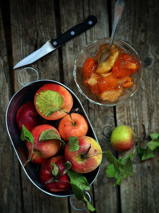 Apples Jam Photograph by Zoryana Ivchenko