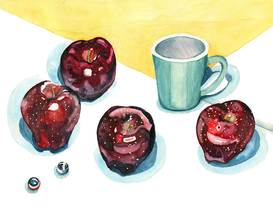 Apples Painting - Apples by Katherine Miller