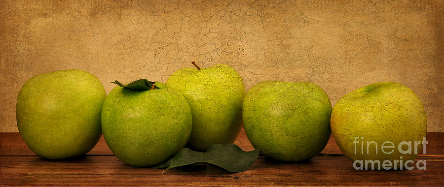 Apples Photograph - Apples Still Life by Malu Couttolenc