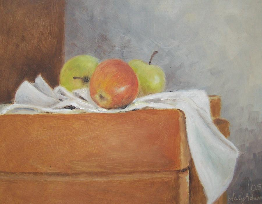 Still Life Painting - Apples by Mary Adam