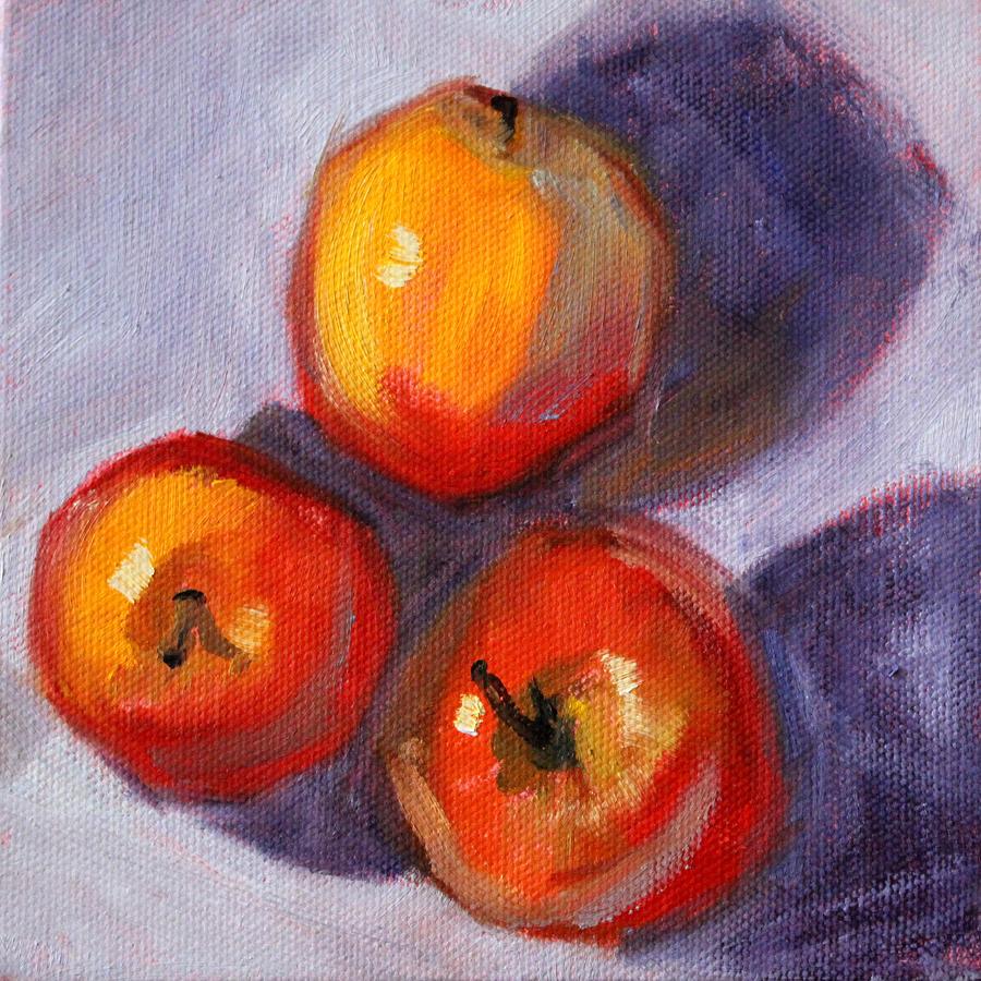 Fruit Painting - Apples by Nancy Merkle