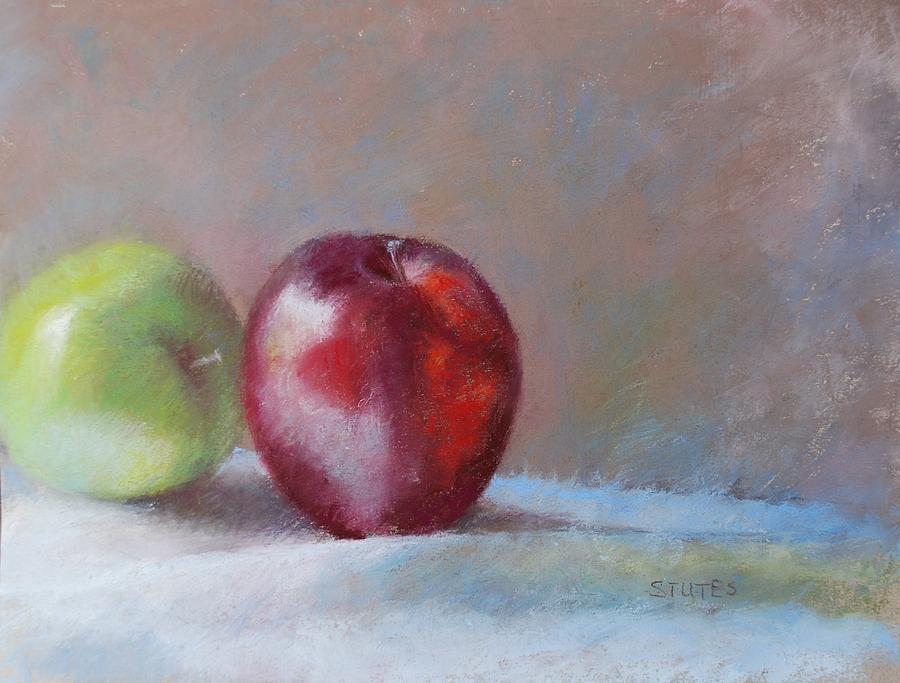 Still Life Pastel - Apples by Nancy Stutes