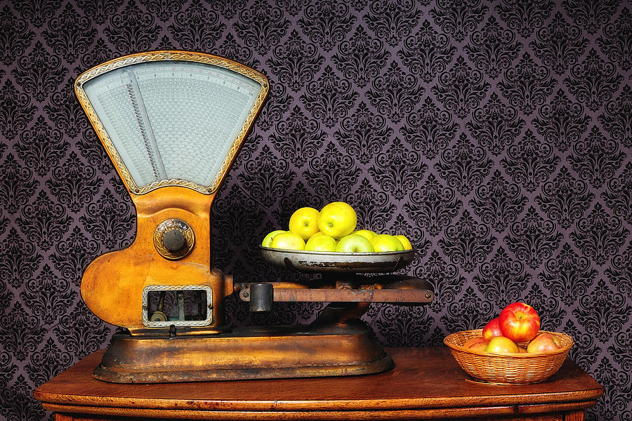 Apples on the Scale by John Kiss