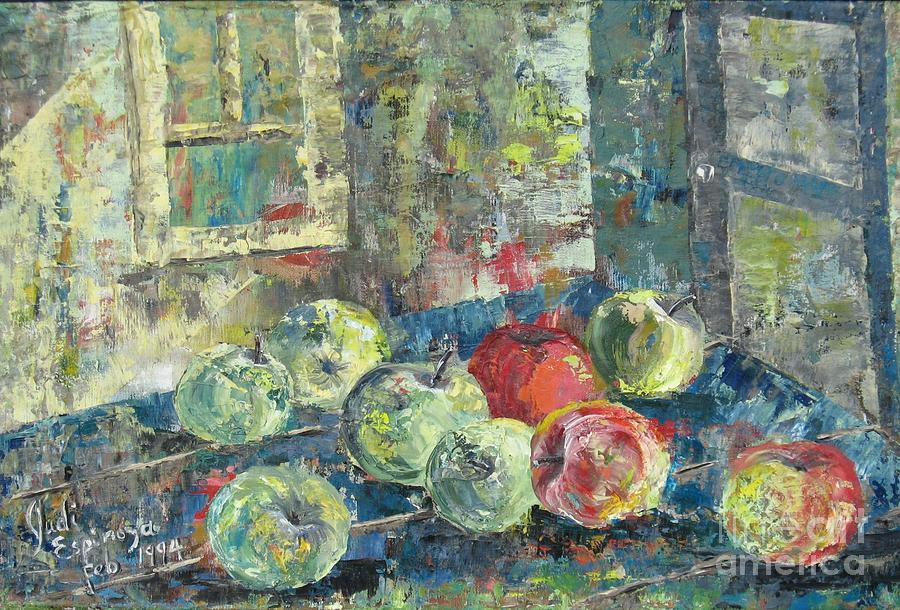 Apples Painting - Apples - SOLD by Judith Espinoza