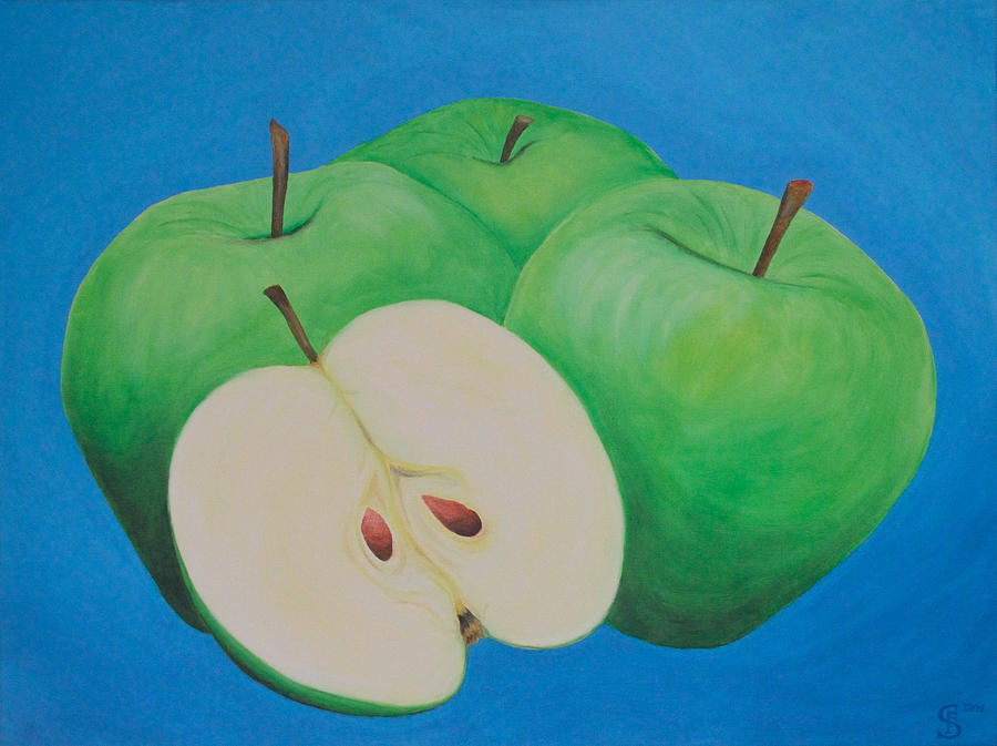 Apples Painting - Apples by Sven Fischer
