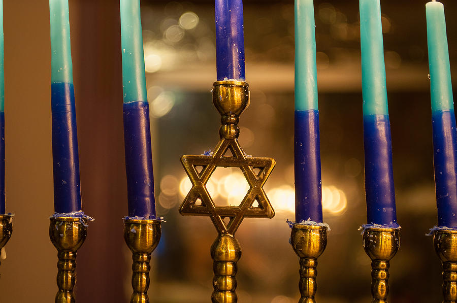 Judaic Photograph - Appointed Lights by Tikvahs Hope