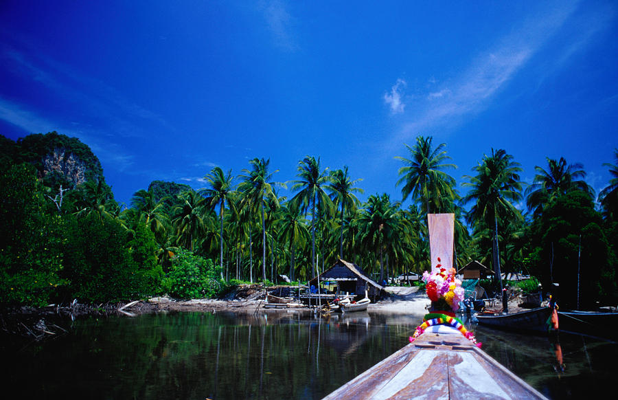 Southeast Asia Photograph - Approaching Ao Bakao By Longboat On The by Karen Trist