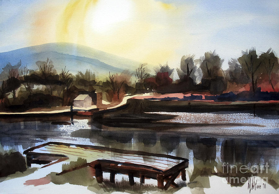 Water Color Painting - Approaching Dusk II by Kip DeVore