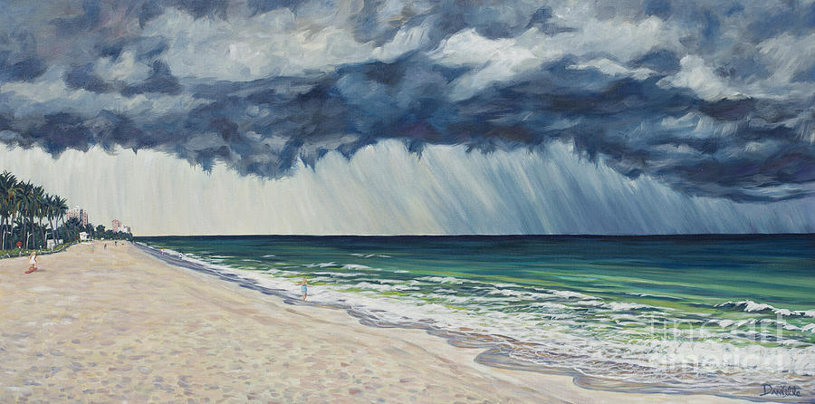 Gail Painting - Approaching Gail by Danielle  Perry