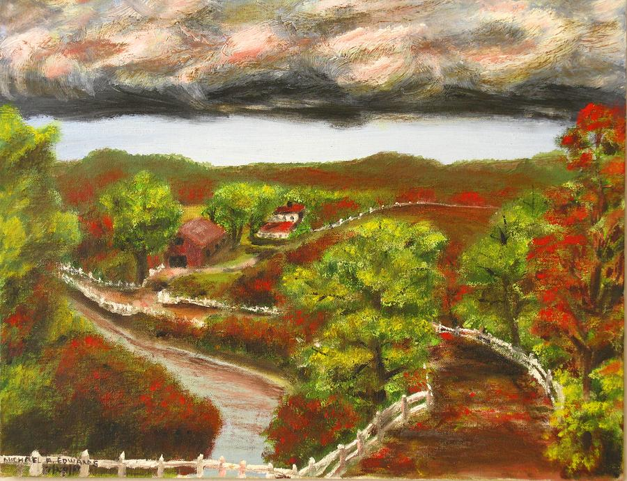 Nature Painting - Approaching Storm by Michael Anthony Edwards