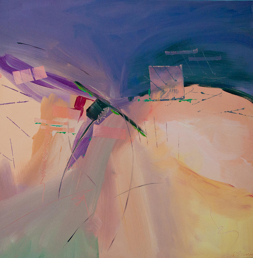 Abstract Painting - Approaching Storm by Paulette B Wright