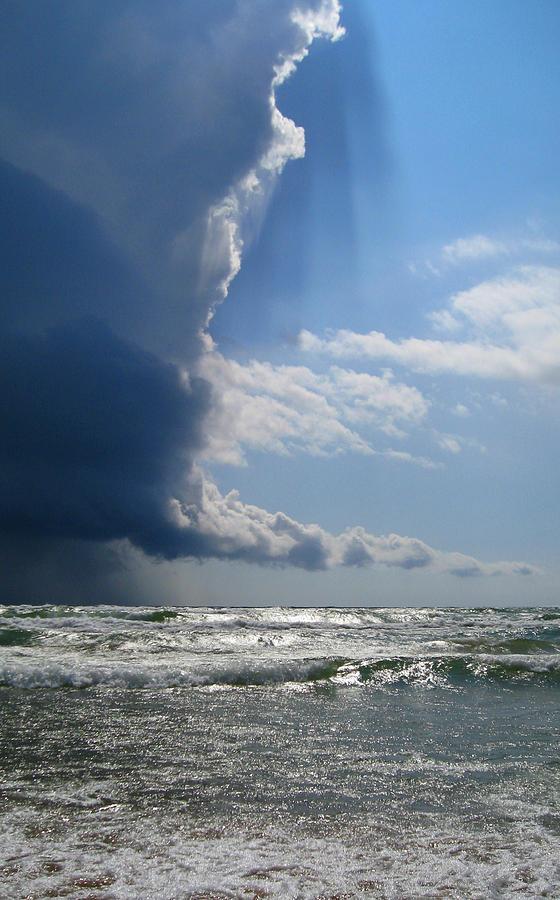 Lake Michigan Photograph - Approaching Storm  by Robin Street-Morris
